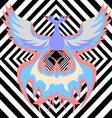 Multicolor phoenix vector image