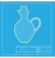 Amphora sign  White section of icon vector image