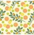 citrus pattern Fruit background Summer bright vector image