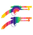 Colorful vintage gun isolated on white vector image