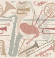 music background seamless texture with musical vector image