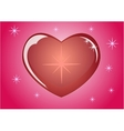 Romantic red heart which symbolizes the loveEps10 vector image