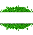 Saint Patricks Day Background with clover vector image