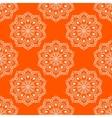 Seamless Mandala Pattern over orange vector image