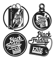 Vintage black friday sale emblems vector image