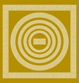 Round and rectangular classical roman or greek vector image