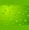 abstract green 3d drops background vector image