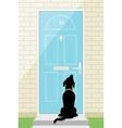 Door dog vector image vector image