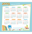 2009 colorful educational calendar vector image vector image