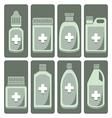 set of cute medicine bottle vector image