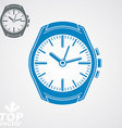 graphic pocket watch classic detailed watch with vector image