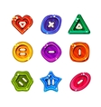 Shiny Glossy Colorful Buttons Set vector image