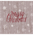 vintage christmas card in vector image vector image