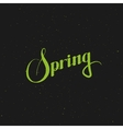 Spring season retro label vector image