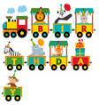 birthday train with characters vector image