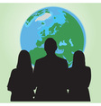 business people world vector image