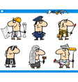 cartoon occupations characters set vector image