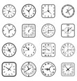 face clock icon flat set vector image