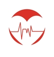 healthy heart symbol isolated icon vector image