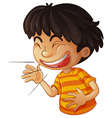 Laughing vector image