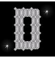 Metal letter D Gemstone Geometric shapes vector image