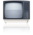 Old style retro tv set icon vector image