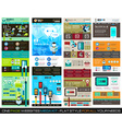 One page website flat UI design template SET 1 vector image