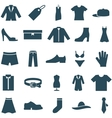 Set icons clothes and accessories vector image