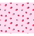 strawberry background Seamless pattern of hand vector image