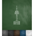 tower icon Hand drawn vector image