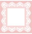 White lace napkin vector image