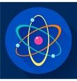 Flat atom icon vector image