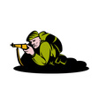 British world war two soldier aiming rifle vector image vector image