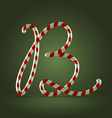 Candy cane abc b vector