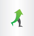 arrow man walking go up success concept vector image
