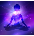 Outer space Meditation vector image
