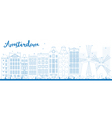 Amsterdam outline vector image