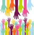 Creative Colorful Helping Hand vector image