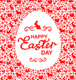 easter card egg white vector image vector image