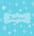 retro snowflakes card in blue vector image vector image