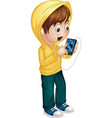 Kid using tablet vector image vector image