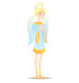 angelic boy cute young man in style of angel with vector image