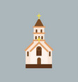 building of orthodox church catholic temple with vector image