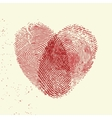 Fingerprint heart vector image