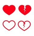 Heart Shape Icons vector image