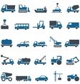 icons of construction and trucking industry vector image