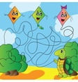 Maze turtle with a kite vector image