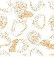 Monochrome seamless pattern of paprika vector image