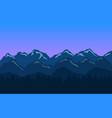 mountain landscape background with blue hills and vector image