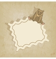 retro background with bear vector image